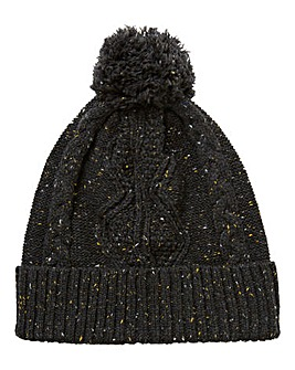 Label J Cable Knit Nep Beanie Hat