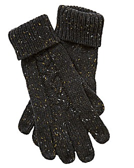 Label J Cable Knit Nep Gloves
