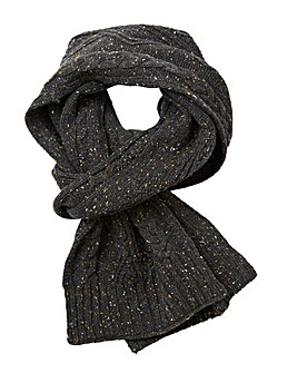 Label J Cable Knit Nep Scarf