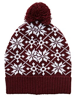 Label J Fairisle Beanie Hat