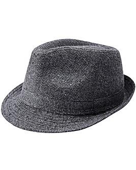 Black Label Grey Tweed Trilby