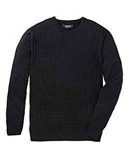 Black Label Texture Crew Neck Knit L