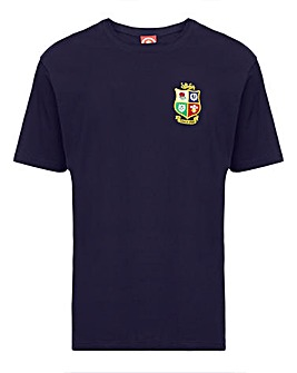 British & Irish Lions Map Back Print Tee