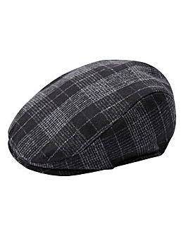 Williams & Brown Checked Flat Cap