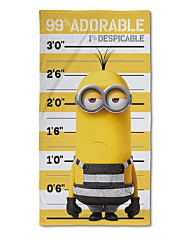 Despicable Me Minions Jailbird Towel