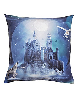 Magical Kingdom Blue Cushion