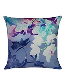 Lipsy Mirrored Orchid Filled Cushion