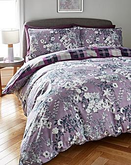 Iris Check Duvet Cover Set