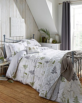 Linden Fern Green Duvet Cover Set