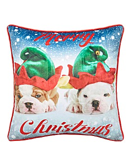 Selfie Elfie Dog Cushion Cover