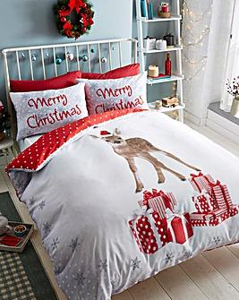 Christmas Deer Duvet Cover Set