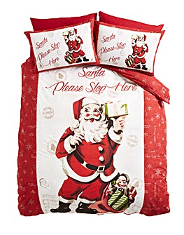 Retro Santa Duvet Cover Set
