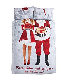 Selfie Santa Duvet Cover Set