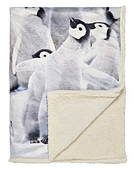 Snuggly Penguin Throw