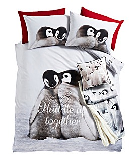 Snuggly Penguin Duvet Cover Set