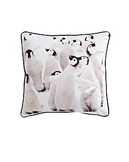 Snuggly Penguin Cushion Cover