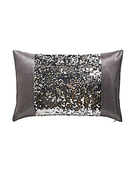 Dazzle Charcoal Boudior Filled Cushion