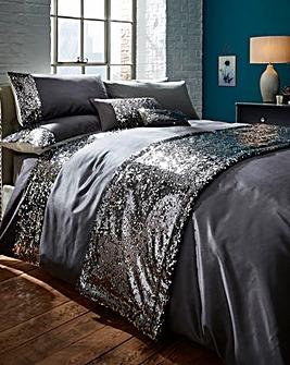 Dazzle Charcoal Duvet Cover Set