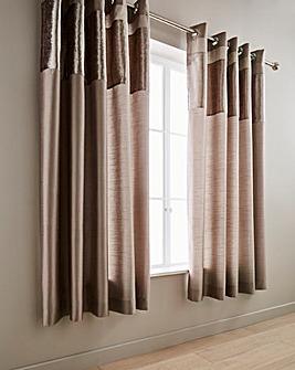 Boulevard Velvet Oyster Eyelet Curtains