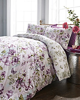 Raine Mauve Duvet Cover Set