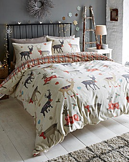 Reindeer Brushed Cotton Duvet Set