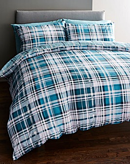 Chandler Teal Duvet Cover Set