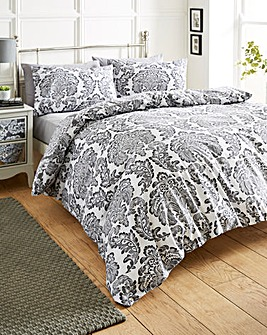 Chatsworth Charcoal Duvet Cover Set