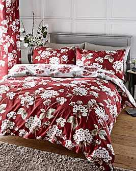 Catherine Cotton Red Duvet Cover Set