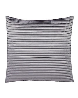Austen Pleated Grey Square Cushion