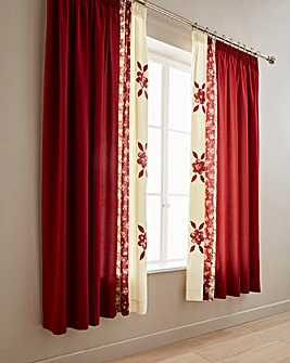 Bronte Lined Pencil Pleat Curtains