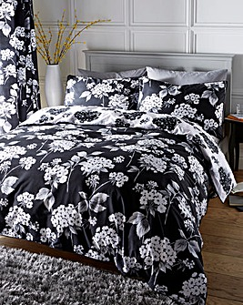 Catherine Cotton Black Duvet Cover Set