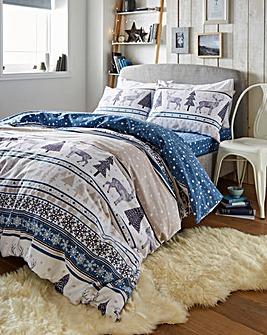 Fairaisle Stag Brush Cotton Blue Bundle