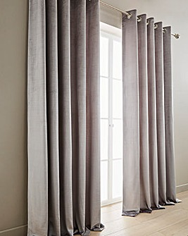 Memphis Velvet Lined Eyelet Curtains
