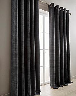 Mila Boucle Lined Eyelet Curtains
