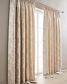 Ashford Paisley Pencil Pleat Curtains