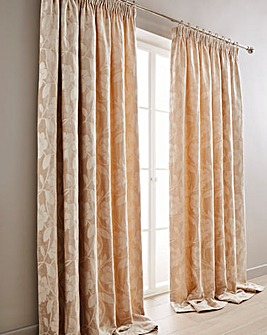 Charley Floral Pencil Pleat Curtains