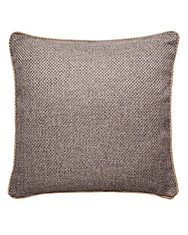 Basket Weave Piped Edge Cushion Cover