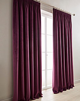 Heavyweight Velour Pencil Pleat Curtains