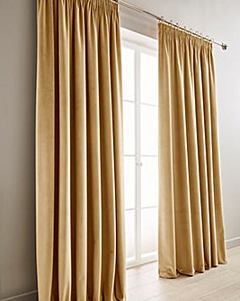Heavyweight Velour Pencil Pleat Curtains