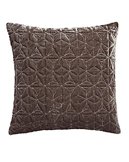 Geo Velvet Quilted Cushion