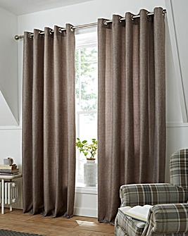 Basket Weave Long Length Eyelet Curtains
