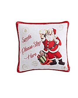 Retro Santa Cushion