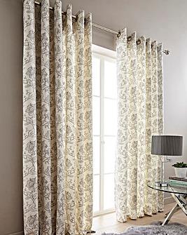 Chloe Printed Floral Curtains