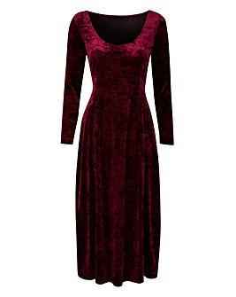 Joanna Hope Crushed Velour Dress
