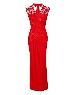 Joanna Hope Lace Trim Maxi Dress