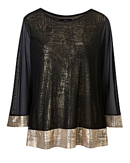 Joanna Hope Mesh Overlay Top