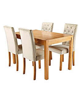Oakham Rectangle Table 4 Grace Chairs