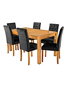 Oakham Extending Table 6 Grace Chairs