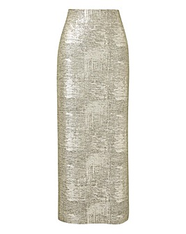 Joanna Hope Metallic Tube Skirt