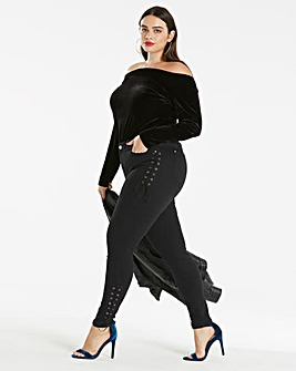 Joanna Hope Velour Bardot Top
